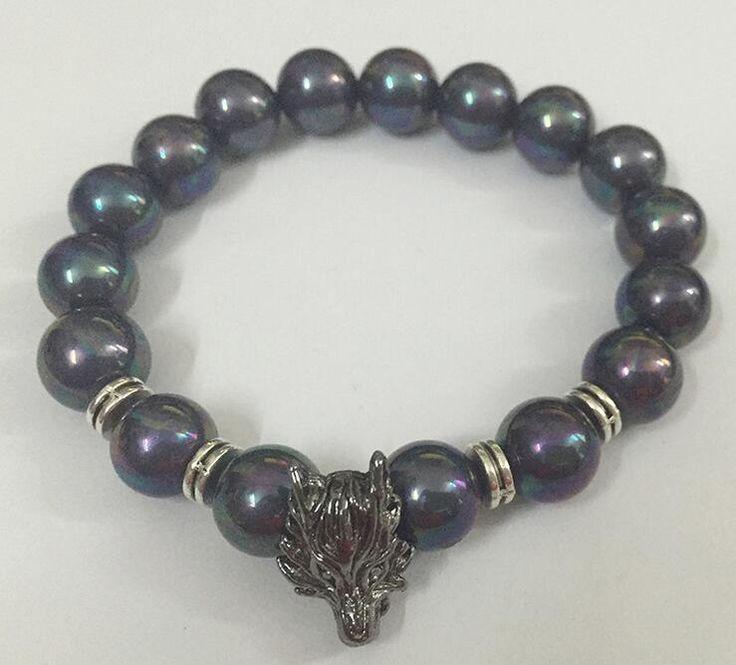 Find More Hologram Bracelets Information about Wolf Head Shell Bracelet Fishional Bracelet  For Men,High Quality bracelets for,China shell bracelet Suppliers, Cheap bracelet for men from DreamFire Store on Aliexpress.com