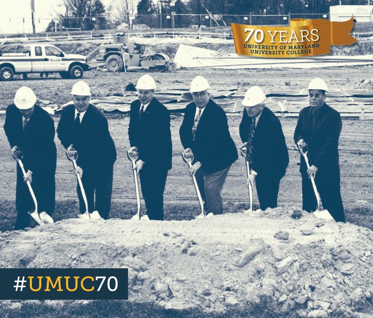#ThrowbackThursday to 2004 at the groundbreaking ceremony for the new hotel addition to the UMUC Inn and Conference Center. #umuc70