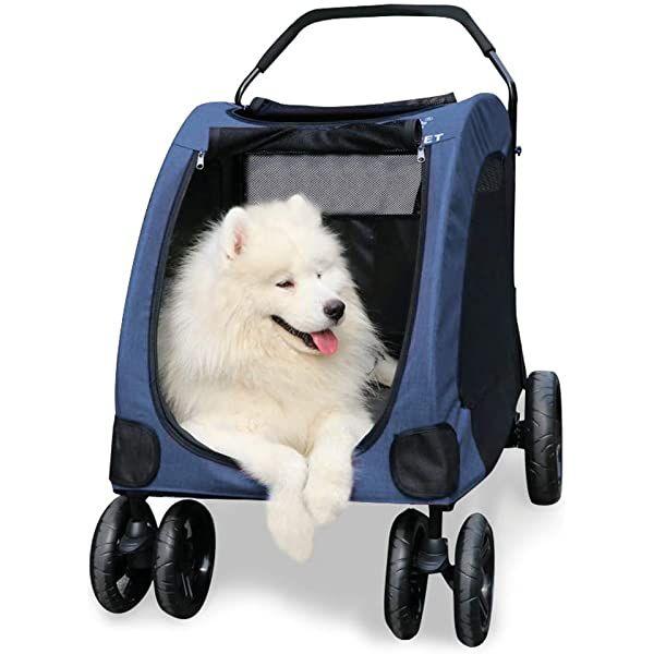 Amazon ペットカート 犬用 キャリーカート ペットバギー 折りたたみ式 大型犬 多頭中小型犬 犬用 猫用 ドッグカート レッド 307 型 Wooce カート 通販 大型犬 犬 小型犬