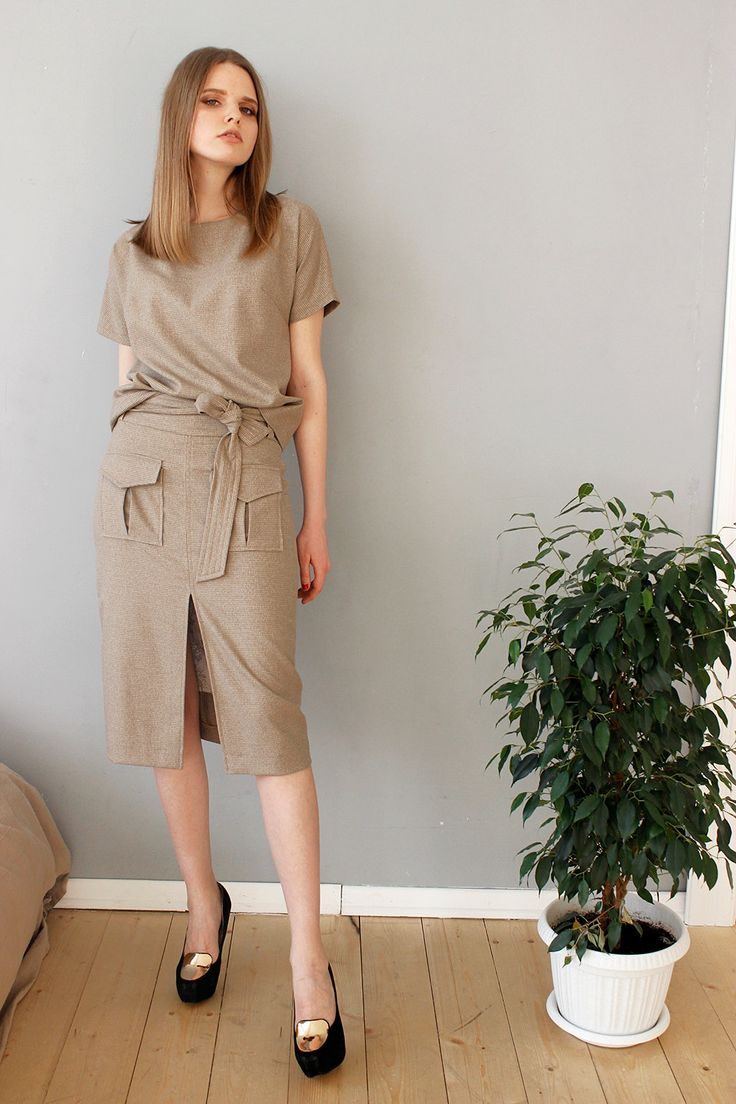 2 pieces skirt suit, Top and skirt suit, Relaxed fit two pieces set by Cultofdress on Etsy