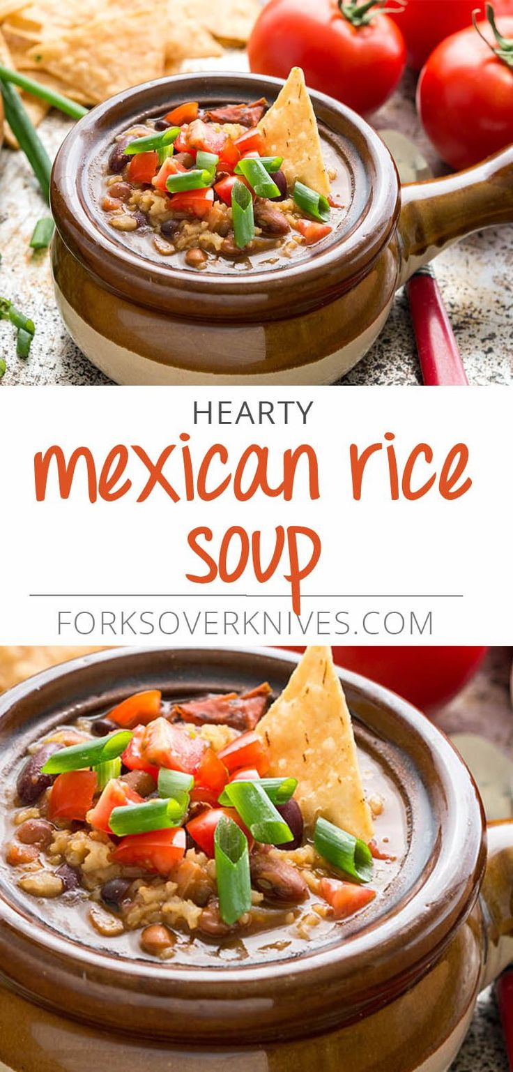 Vegan Mexican Rice Soup