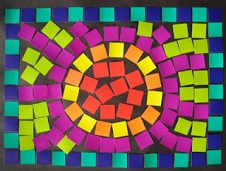 Roman mosaics using paper...