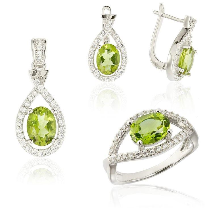 Set Zirconiu verde Fancy cu cristale albe Cod TRSS014 Check more at https://www.corelle.ro/produse/bijuterii/seturi-argint/set-argint-zirconiu-verde-fancy-cu-si-cristale-albe-cod-trss014/