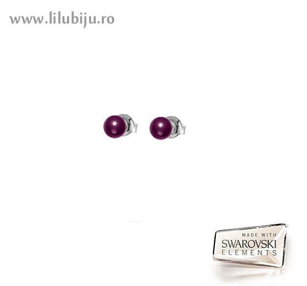 Cercei Swarovski Elements™ - Perle Plate Blackberry by LiluBiju (copyright)