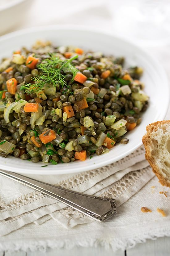 Herbed French Lentil Salad Recipe — Dishmaps