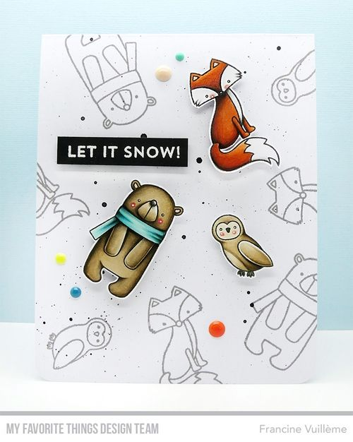 Card by Francine (www.1001cartes.ch) karte, carte, carterie, cardmaking, cardmaker,   crafts, papercrafts, handmade, diy, stamping, #1001cartes,   mftstamps, #mftstamps, die-namics, friends in the forest