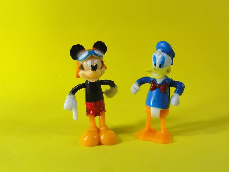 MICKEY AND DONALD DUCK UNBOXING TOYS mickey pato donald de plastico