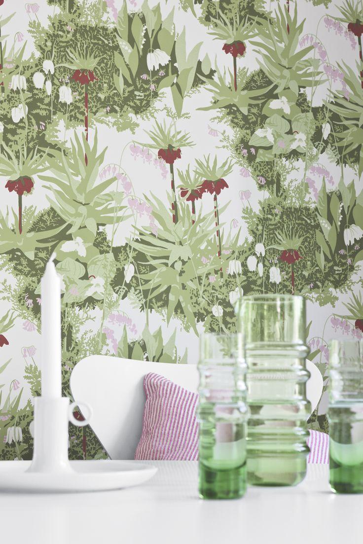 Kejsarkrona by Arne Jacobsen - Boråstapeter's Wallpapers by  Scandinavian designers.
