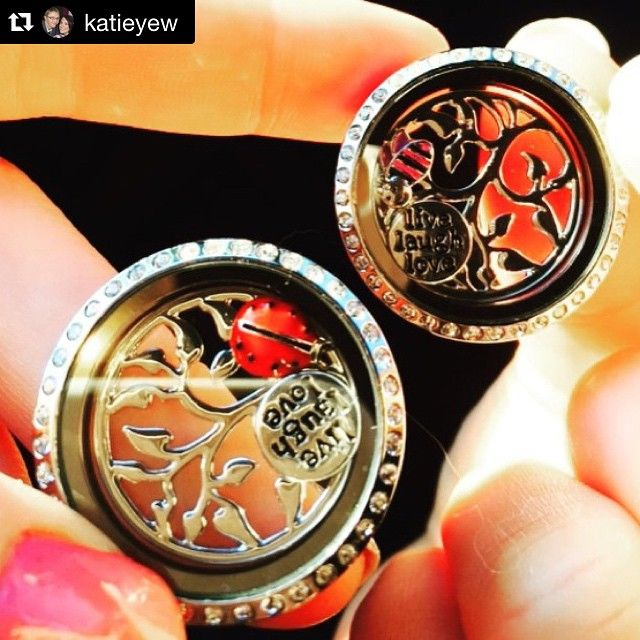 2 very happy customers with their super cute locket combinations! #lilyannedesignswithSarahKelly #LilyAnneDesigns #PersonalisedJewellery @katieyew ・・・ We got each other #matching #necklaces  #bee #ladybettle