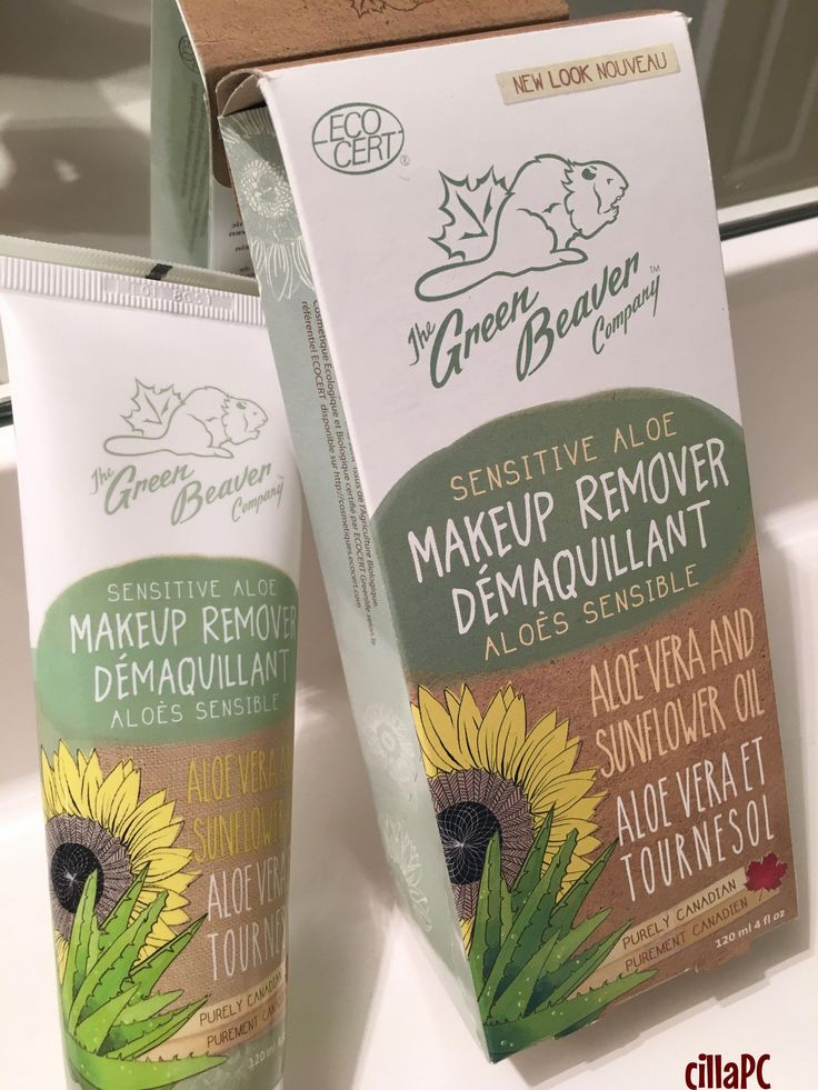 Organic makeup remover The Green Beaver Company Purely