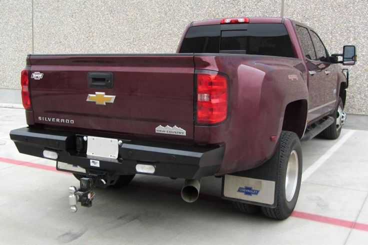 American Built 3RX23152Panther Rear Bumper with Lights Chevy Silverado 2500/3500 2015-2017
