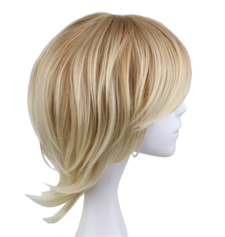 Discount QQXCAIW Short Curly Men Male Cosplay Blonde 35 Cm Synthetic Hair Wigs. Click visit to check price