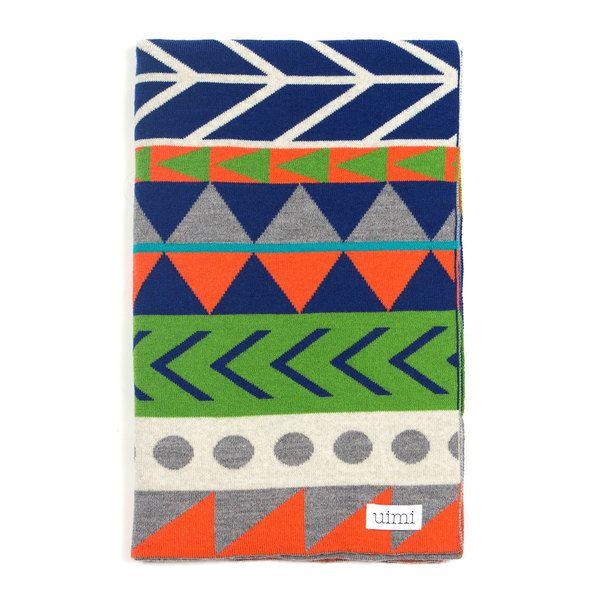 Dakota kids blanket - Marmalade - folded
