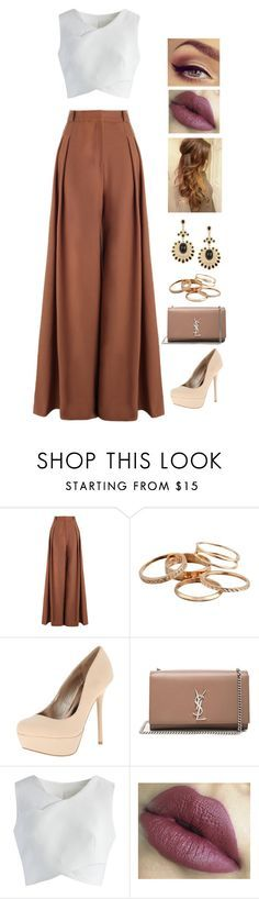 """""""Party"""" by rhay-q ❤ liked on Polyvore featuring Zimmermann, Kendra Scott, Qupid, Yves Saint Laurent and Chicwish"""