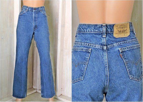 Vintage Levis 517 Jeans 34 X 32 Size 10 12 Orange Tab High Waisted Straight Leg Levis Mens Or Womens Levis 517 Vintage Levis Levi