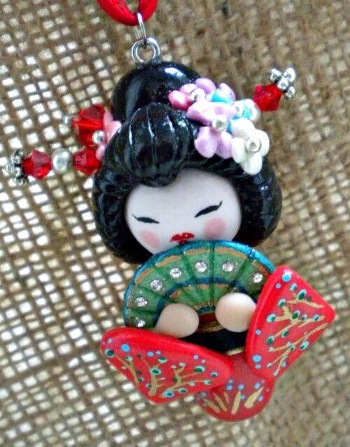 Fimo - piccola Geisha