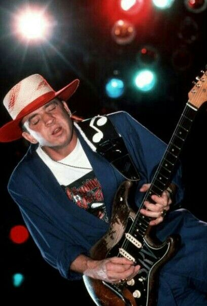 Stevie Ray Vaughan at The Pier, NYC - Aug 21,1988. Photo by Ebet Roberts.