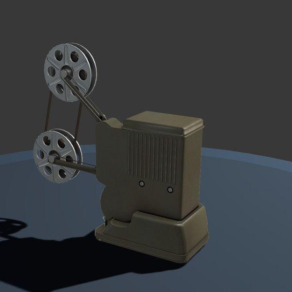 http://www.turbosquid.com/3d-models/3d-film-projector/642057