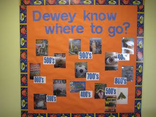Lorri's School Library Blog: School Library Media Center Bulletin Boards-(Check my other posts for more bulletin board images) --- connect popular bookcovers with their Dewey area