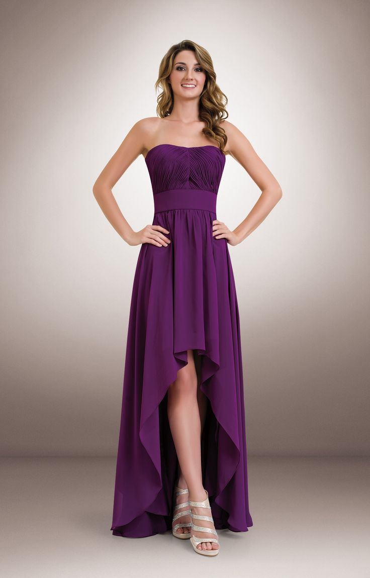 103 best shades of purple bridesmaid dresses violet eggplant 1684 chiffon strapless high low bridesmaids dress highlowbridesmaidsdresses ombrellifo Image collections