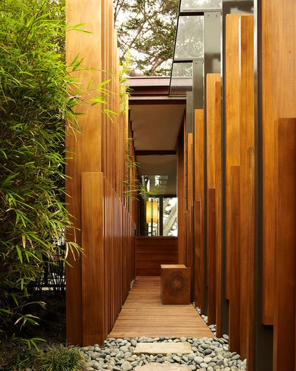 Add fins to existing? modern entry by Dirk Denison Architects    http://www.houzz.com/photos/2639782/Carmel-Residence-modern-entry-other-metro