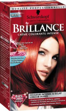 schwarzkopf brillance coloration permanente rouge brocart 845 - Prix Coloration Schwarzkopf