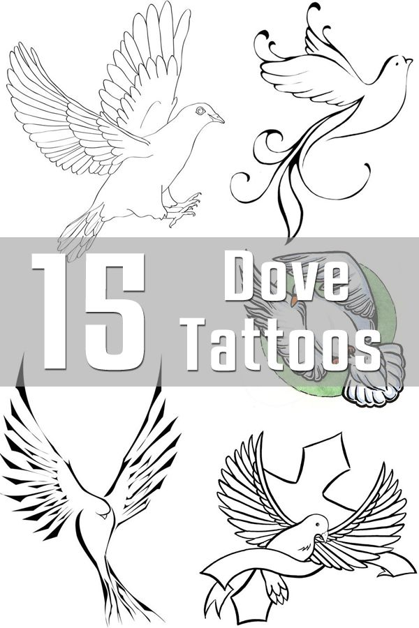 15 Dove Tattoo Designs | The Body is a Canvas