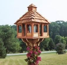 Large Wooden Bird Feeder