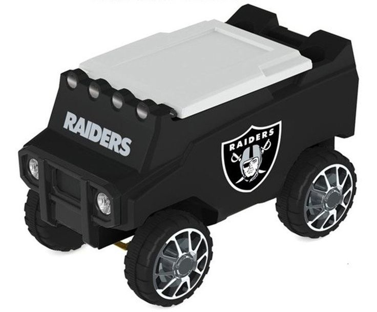 Let the fun begin with your remote control Oakland Raiders Cooler. Holds 30 cans plus ice. Officially licensed by the NFL. Free shipping. Excellent quality. Visit sportsfansplus.com for details.
