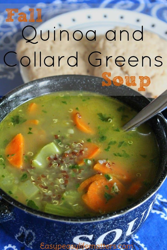 Fall Quinoa and Collard Greens Soup Recipe on Yummly. @yummly #recipe
