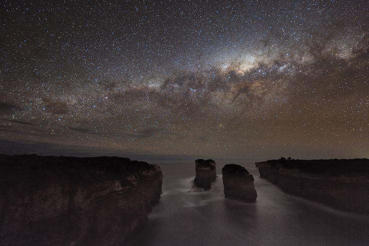 A Milky Way Shadow at Loch Ard Gorge (Australia)  Credit & Copyright: Alex Cherney (Terrastro) via NASA on Tumblr