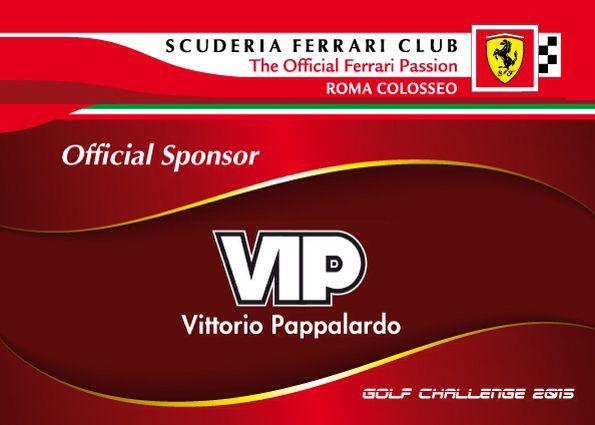 Vittorio Pappalardo VIP sponsor ufficiale di Ferrari Golf Club Roma Colosseo