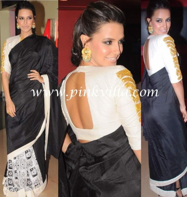 Neha Dhupia in Masaba #Saree