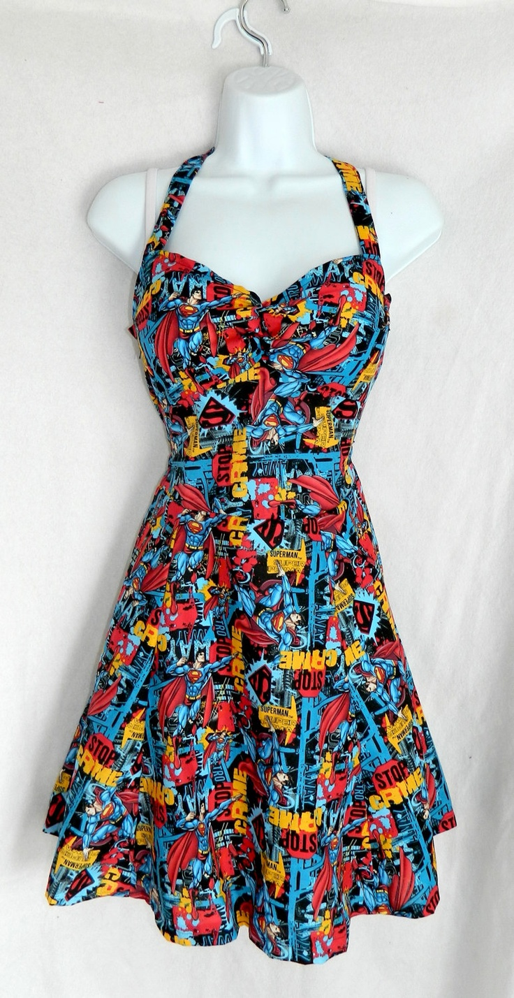 Custom DC Comic Superman dress by CandiedStarfish on etsy. I really want this!