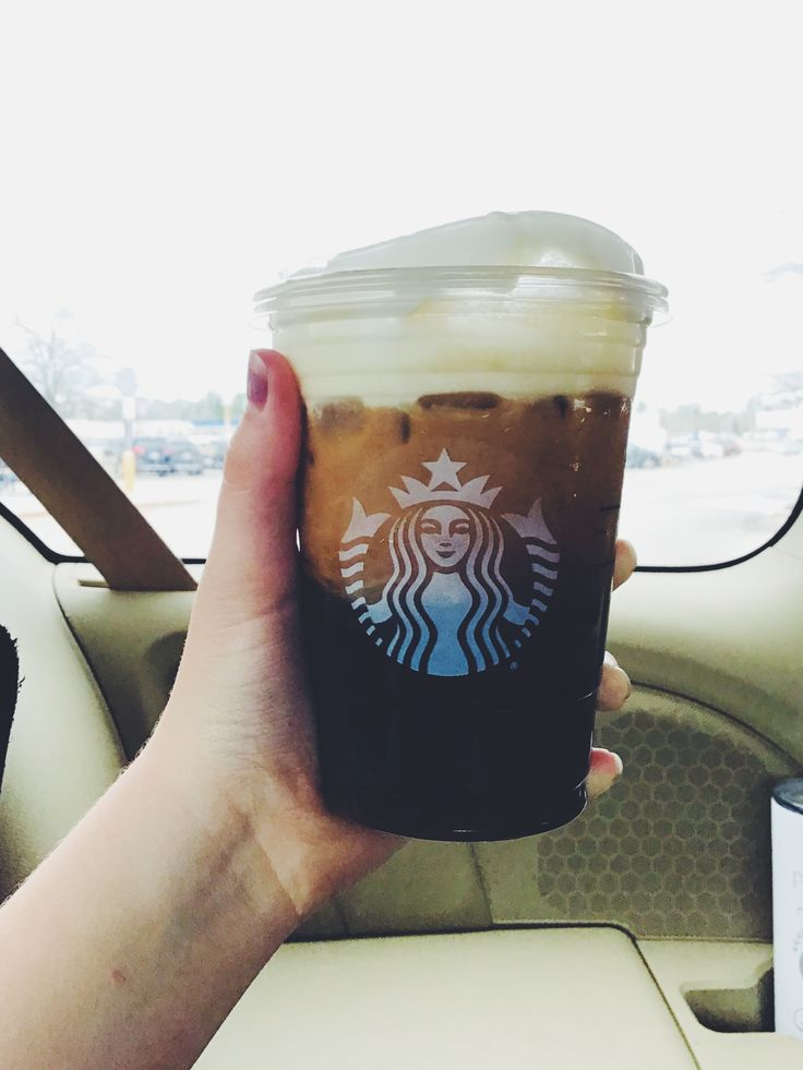 Starbucks nitro cold brew with salted honey cold foam in