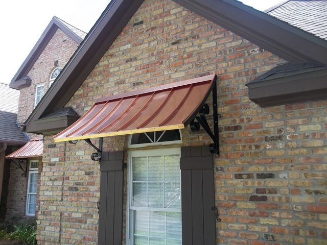 Copper Awnings Shutters Exterior Aluminum Shutters Copper Awning