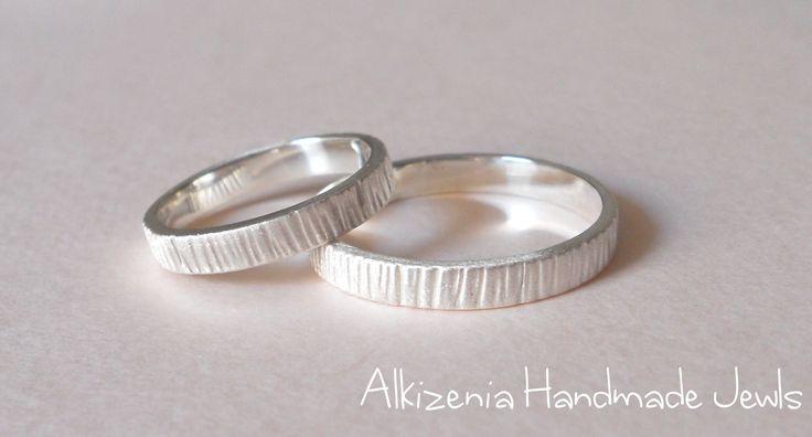 handmade wedding rings, silver 925