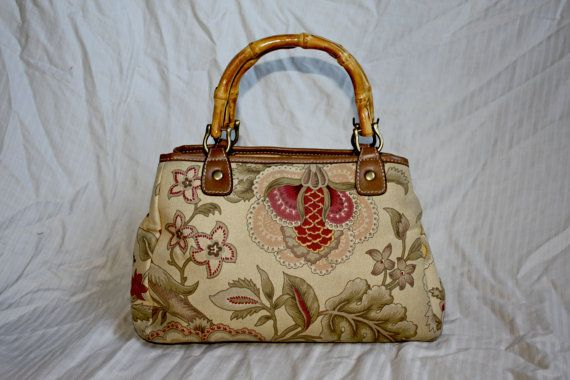 Afternoon Tea Floral Handbag by in2purses2010 on Etsy, $13.50