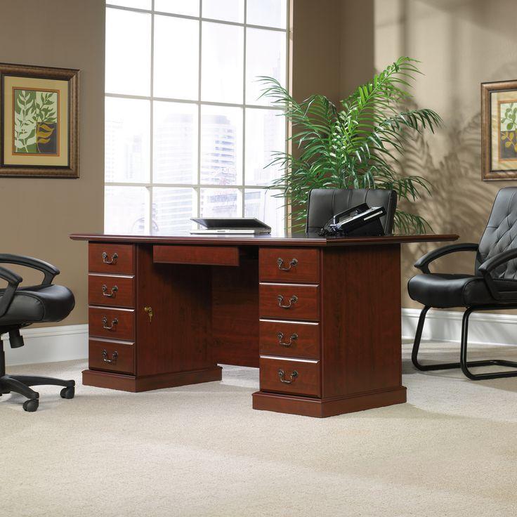 cherry custom home office desk. Fabulous Sauder Heritage Hill Executive Desk Classic Cherry Custom Home Office Furniture Check More With Office.