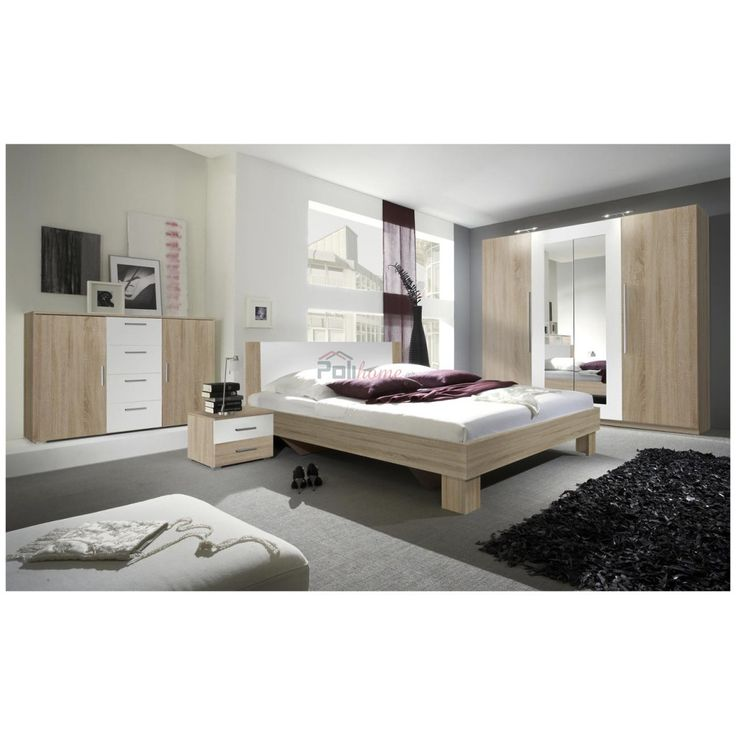 Κρεβάτι με 2 κομοδίνα Vera