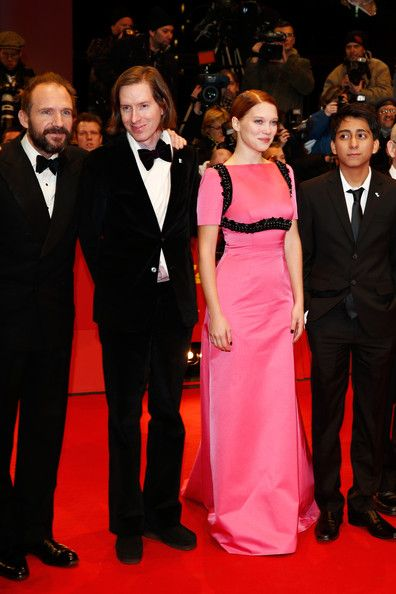 (L-R)  Ralph Fiennes, Wes Anderson, Lea Seydoux and Tony Revolori attend 'The Grand Budapest Hotel' Premiere and opening ceremony during the...