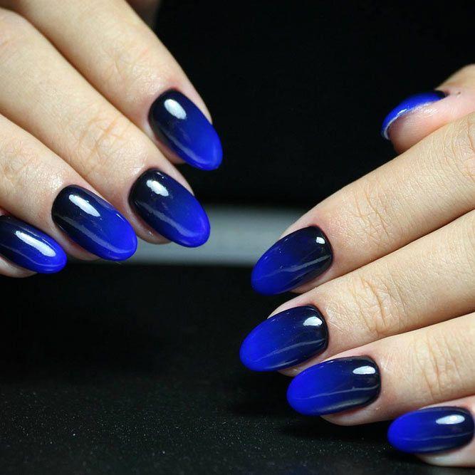 Pin By Jordie Sponseller On Formal Nails Blue Ombre Nails Ombre Nail Art Designs Ombre Nail Designs