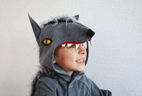 Wolf Werwolf Hund Kinderkostüm Halloween von maiiberlin auf Etsy