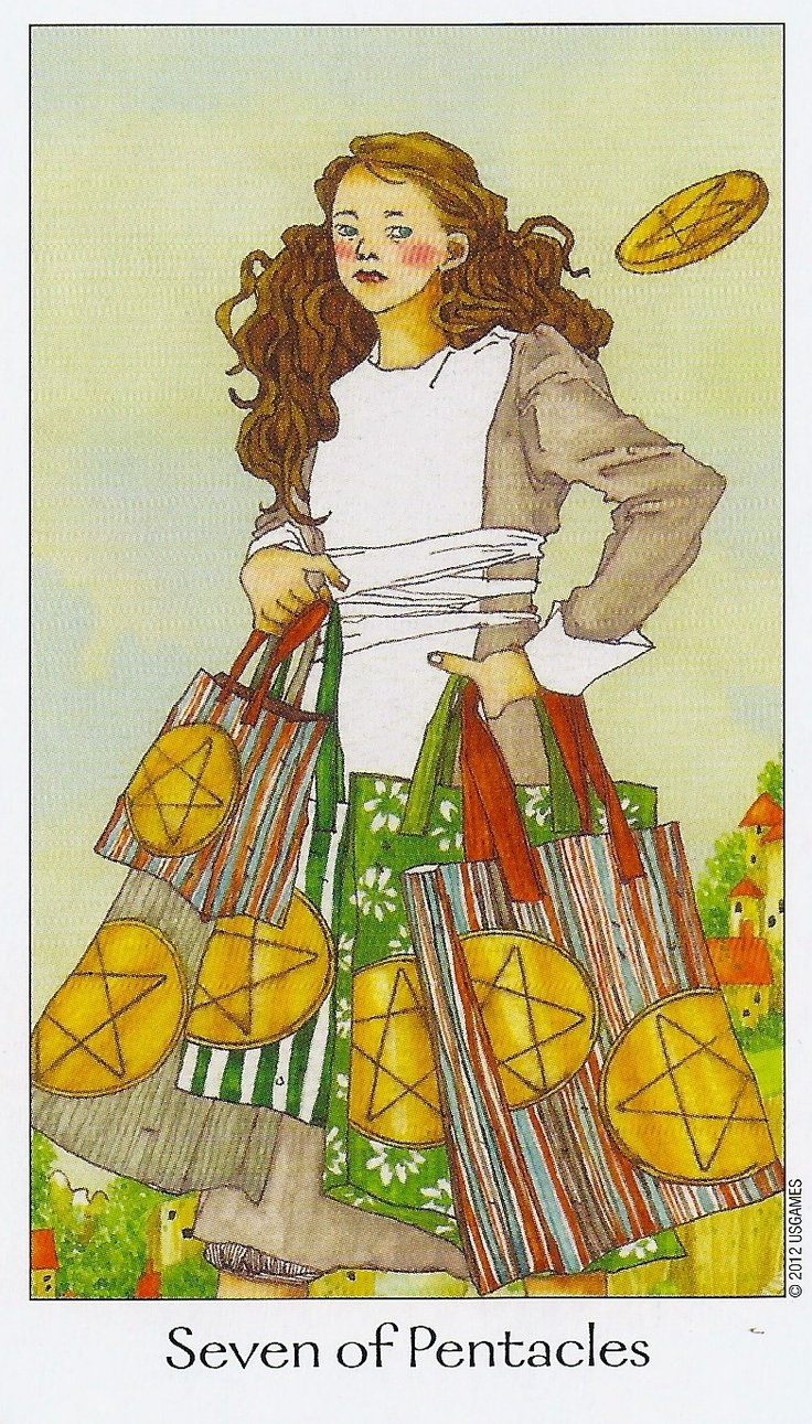 The Pentacles Suit Tarot Cards Meanings In Readings: Seven Of Pentacles P6 Your Effort Will Definitely Be Worth