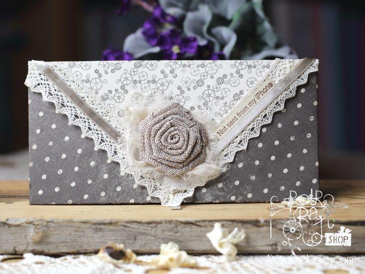 Romantyczna kopertówka, envelope vintage