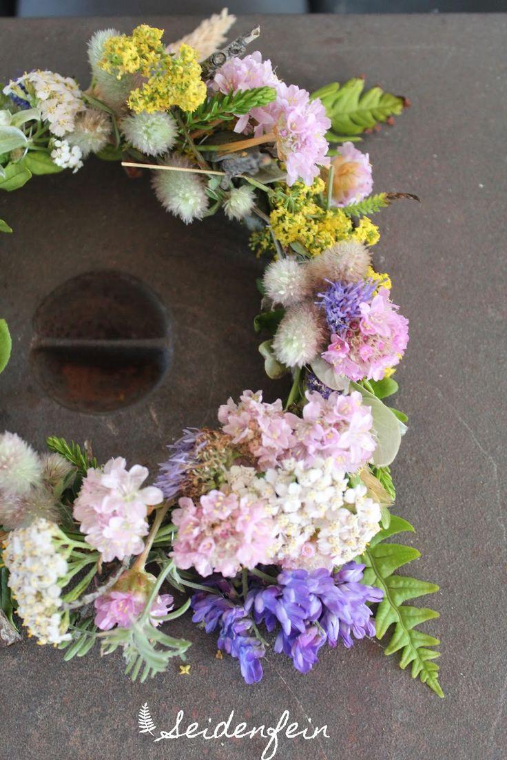 Strandblumen, Kranz, Kränzchen, DIY, Blumen, flowerwreath, wreath, kranzbinden, Dänemark, Dekoblog, Wohnblog, Decoration, living,