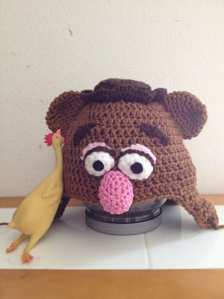 Fozzie bear. Halloween 2012. Cobbled together a hat ...
