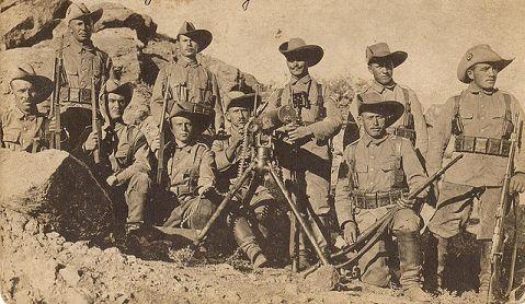 Schutztruppe germans in Namibie