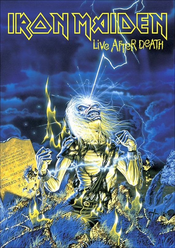 Iron Maiden Live After Death Stand-Up Display by kiss76 on Etsy