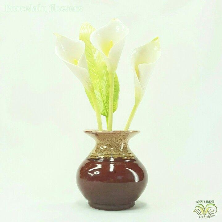Porcelain flowers, ceramic floral, porcelain calla lily